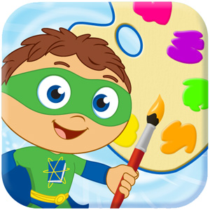 Super Why! Paint icon.