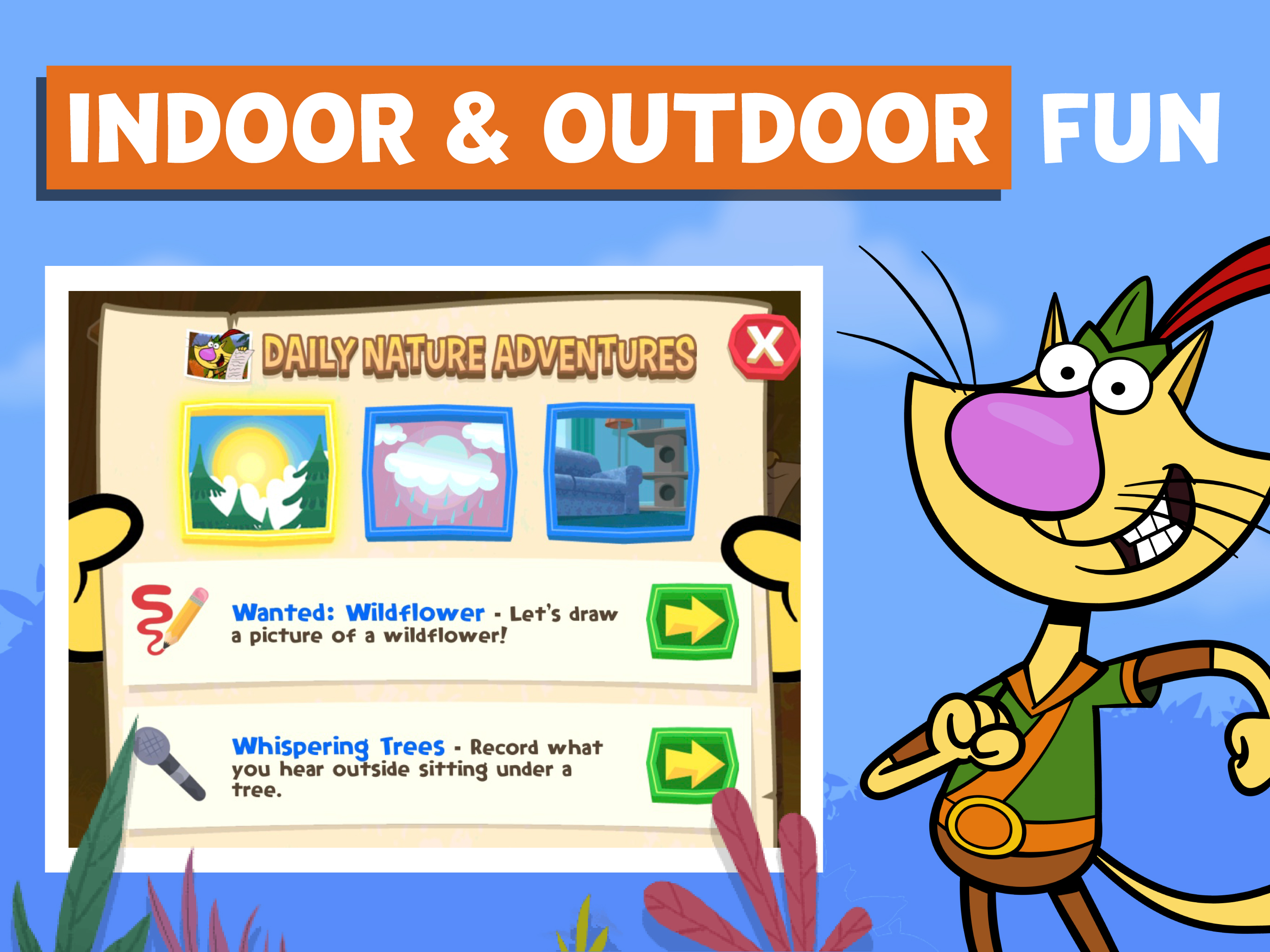 Nature Cat's Great Outdoors screenshot.