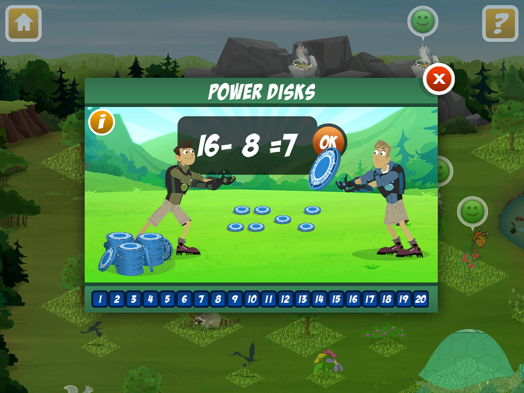 Wild Kratts Creature Math screenshot.