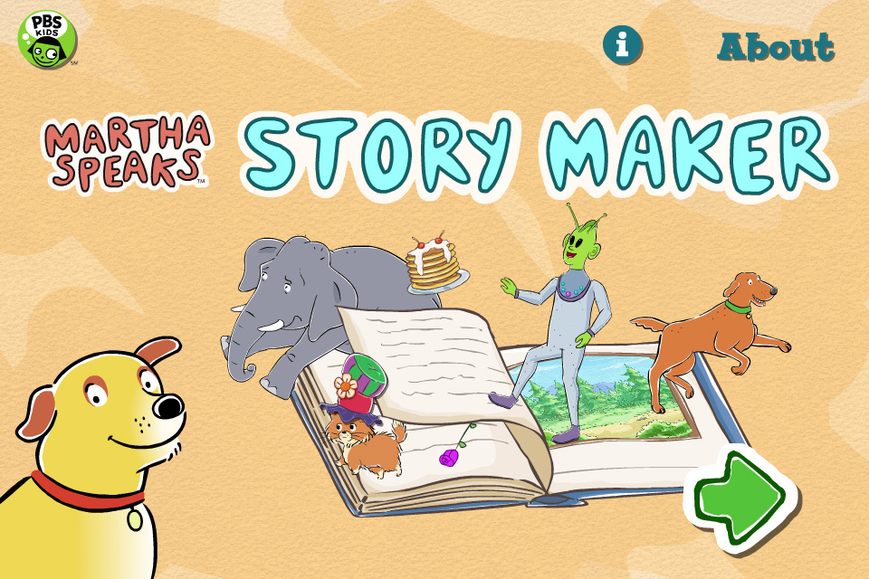 Martha Speaks Story Maker screenshot.